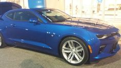 2016 Chevrolet Camaro SS V 8 engine. Hyper metallic blue. 11th wedding annuversary gift from my wonderful hubby.