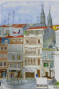 Spain, Galicia, A Coruña, Betanzos, Rúa Valdoncel
