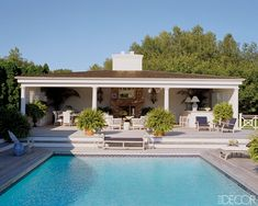 Backyard & Pool Area...nice setup. Would like different design decor