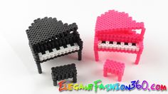 DIY Perler Beads/Hama Beads 3D Piano - How to Tutorial/Perfect for Doll ...