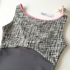 ✏️… Pencil BLK × アッシュグレー ボートネック:ネックラインパイピング パイピング:ピンク #aliciadancewear #ballet #バレエ #カスタムオーダー