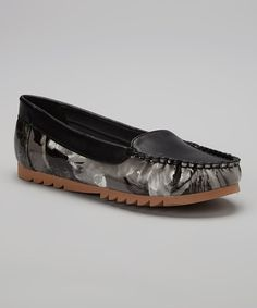 Look at this Black Abstract Loafer on #zulily today!
