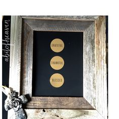 A personal favorite from my Etsy shop https://www.etsy.com/listing/254435671/barn-wood-frame-with-cross-grateful