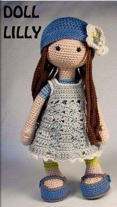 Bambolina Lilly amigurumi schema gratia crochet uncinetto bambini bambole pupazzi giochi natale pasqua filati lavori femminili