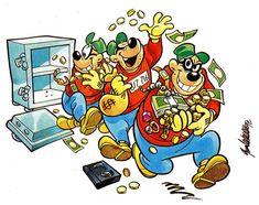 Comic fanart of three Beagle Boys robbing a safe.