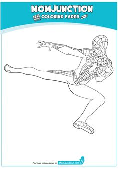 The Spiderman Ready Coloring Page Spiderman Coloring, Color Sheets, Hand Painted Shoes, Coloring Pages, Crafts For Kids, Alternative, Marvel, Poses, Facebook
