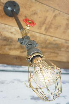 Single Pendant Lighting With Brass Valve And by NorthWestLighting