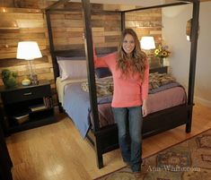 DIY Projects Saving Alaska Farmhouse Canopy Bed Woodworking Plans by Ana White