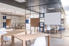 De Amicis Architetti : Digital Entity workspace - ArchiDesignClub by MUUUZ - Architecture & Design Office Space Design, Modern Office Design, Workspace Design, Office Workspace, Office Interior Design, Office Designs, Office Decor, Open Office, Loft Office