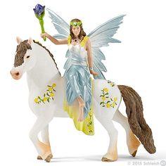 Schleich, Eyela in festive clothes, riding