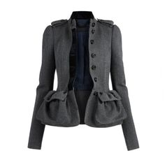 Burberry Tweed Country Jacket ($2,995) ❤ liked on Polyvore featuring outerwear, jackets, coats, burberry, women's, tweed jacket, burberry jacket and tailored jacket