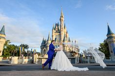 A Magic Kingdom pre-opening portrait session was at the top of Sam's wedding priority list, and she and John added EPCOT because it is so inexpensive to bundle the two sessions!