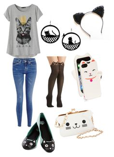 """CATS, CATS, AND MORE CATS!!!! :)"" by burning-through-the-night ❤ liked on Polyvore"