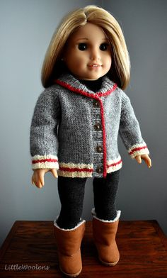 Suitable for 18 inch American girl doll red sweater shoe cover accessories