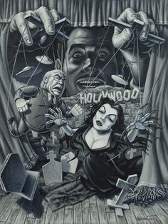The Vampira Show Cult Movies, Scary Movies, Horror Movies, Awesome Movies, Horror Art, Ed Wood, New York Art, Unusual Art, Creature Feature