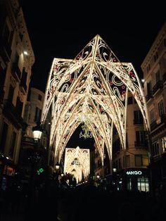 Decoración de Navidad. Calle Larios