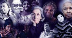 Invoking the women in early African writing Clockwise from top left: Mariama Bâ, Flora Nwapa, Buchi Emecheta, Ama Ata Aidoo, Nawal El Saadawi, Taos Amrouche, Bessie Head, Miriam Tlali. Centre: Nadine Gordimer