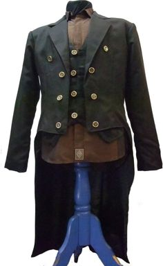 Mens Steampunk Tails Jacket by Ministryofstyle on Etsy, $159.00