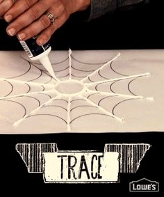 No carving required! Drape your pumpkin with a web spun from a tube of caulk -- Super easy idea for Halloween decorating! Halloween Kostüm, Halloween Projects, Holidays Halloween, Halloween Treats, Halloween Decorations, Halloween Cookies, Halloween Pumpkins, Halloween Costumes, Fall Crafts