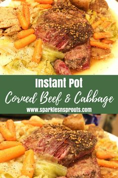 Instant Pot Corned Beef and Cabbage is perfect for any day of the week!!    It is quick, easy and SOOOOO good!! . #cornedbeef #instantpot #cabbage #stpatricksday #sparklesnsprouts