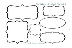 Free printable stencils for creating vinyl chalkboard labels without needing a vinyl cutting machine