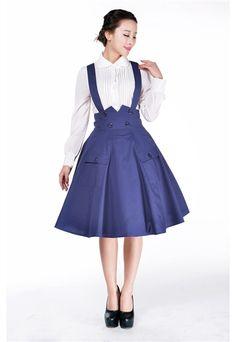 ea42d890d4e Pin Up Clothing Suspenders Circle Skirt Blue Plus Size Tardis Costume