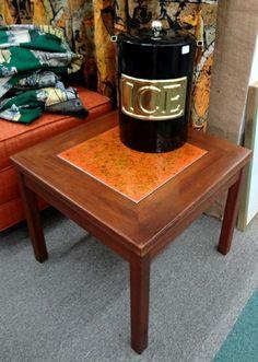 John Keal copper enamel end table.