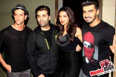 Hrithik, Arjun, Deepika & Karan Johar at special screening of #FindingFanny