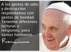 Reflexiones del Papa Fransisco.