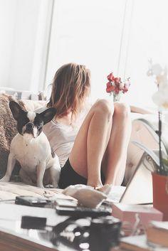 always well accompanied with a puppy dog