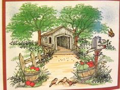 COVERED BRIDGE & MORE SET 5PC set Sells for 31.95 . Made by Art Impressions Rubber stamps. You can purchase all items in my ebay store: Pat's Rubber Stamps & Scrapbooks, Click on the picture & see the listing , or call me 423-357-4334 with order, We take PayPal. You get FREE SHIPPING ON PHONE ORDERS of $30.00 or more. If it says sold I have more. Use my search engine to find the items you are interested in