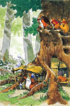 Boceto original de 'Pompoko' (Isao Takahata, 1994)