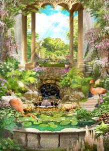 Фрески КЛАССИЧЕСКИЕ « Фото Фреска Weding Decoration, Modern Japanese Garden, Miracle Garden, Hindu Deities, Paper Wallpaper, Krishna Art, Backdrops For Parties, Old Paper, Fantasy World