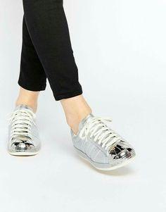 Shop adidas Originals Superstar Silver Metallic Sneakers at ASOS.