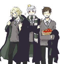 Hetalia Harry Potter Crossover Bad Touch Trio. France, Prussia, and Spain.