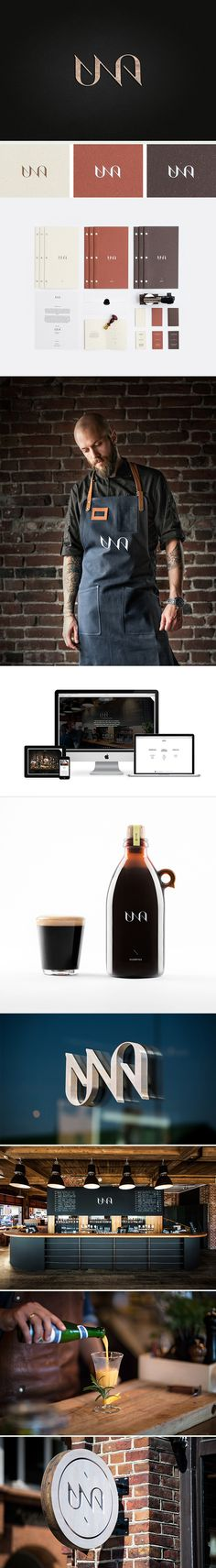 UNA kitchen & microbrewery and #packaging PD