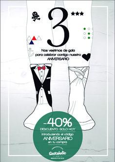 Celebra nuestro aniversario con un 40% de descuento :) #calcetines #socks #sockaholic