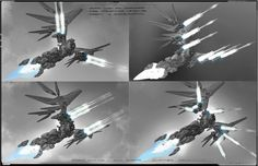 The Zero - Original concept art for the Zero fighter. - Jupiter Ascending – Official Look Book
