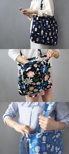 Unique pattern, rounded corners, long shoulder strap! The  Ooh La La Pattern Shoulder Bag is an attractive daily cotton shoulder bag!