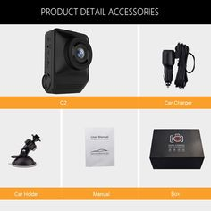 Dual Lens 170 Degree Dashboard Camera with Night Vision Car Camera, Camera Nikon, Dslr Lenses, Dslr Photography Tips, Cameras For Sale, Car Holder, Dashcam, Night Vision