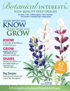 68 Free Seed and Plant Catalogs Gardens Seeds and Seed catalogs