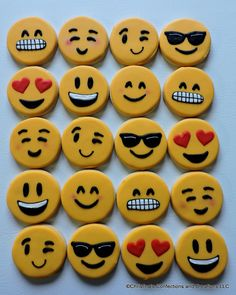 Hand Decorated Emoji Sugar Cookies (#2452)