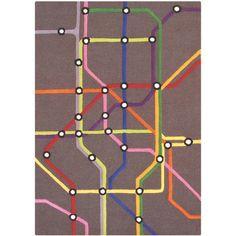 subway map rug