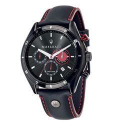 pánske hodinky Maserati - športový dizajn - SP.317.631.SD Boys Watches, Wrist Watches, Men's Watches, Luxury Watches, Amazing Watches, Stitching Leather, Black Stainless Steel, Color Negra, Casio Watch