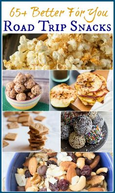 Who says road trips need to be all about the junk food? Healthy road trip snacks are possible with a little pre-planning and this Better For You Road Trip Snacks Roundup of recipe ideas so you can eat healthier while on the road! Healthy Car Snacks, Junk Food Snacks, Easy Snacks, Yummy Snacks, Snack Recipes, Healthy Snacks For Traveling, Healthy Eating, Healthy Travel Food, Healthy Food