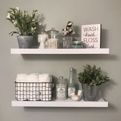 Related posts: 20 Small Master Bathroom Makeover Ideas with Clever Storage 35 Marvelous Farmhouse Bathroom Storage And Organization Ideas 48 Delicate Bathroom Design Ideas For Small Apartment On A Budget Bathroom Shelf Decor, Small Bathroom Organization, Bathroom Storage, Bathroom Interior, Organization Ideas, Storage Ideas, Bathroom Ideas, Small Bathroom Shelves, Bathroom Cabinets