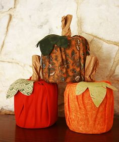 Under The Table and Dreaming: 50 Different Pumpkin Crafts for Fall {minus the real pumpkins} - toilet paper roll, fat square, lunch bag!