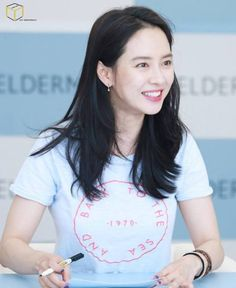 Song Ji Hyo at Celderma fan sign event at Gocheok Sky Dome. © MY Company Instagram