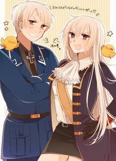 Hetalia Prussia and fem! Prussia