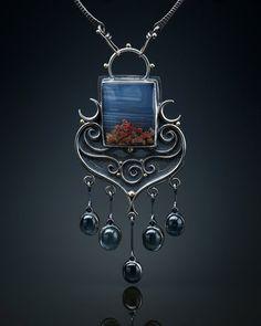 Prudent Man Mine & Aquamarine Centerpiece von amybuettner auf Etsy